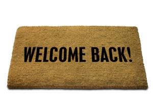 Welcome Back! Doormat