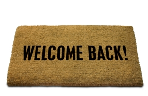 Welcome Back! Doormat